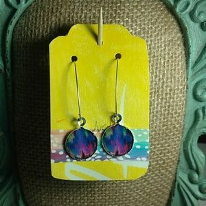 Jewelry - Abstract, colorful image Earrings